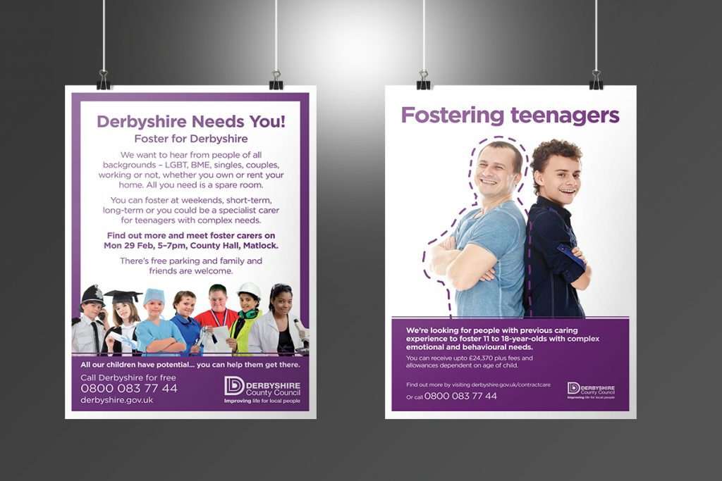 Derbyshire County Council Fostering Posters