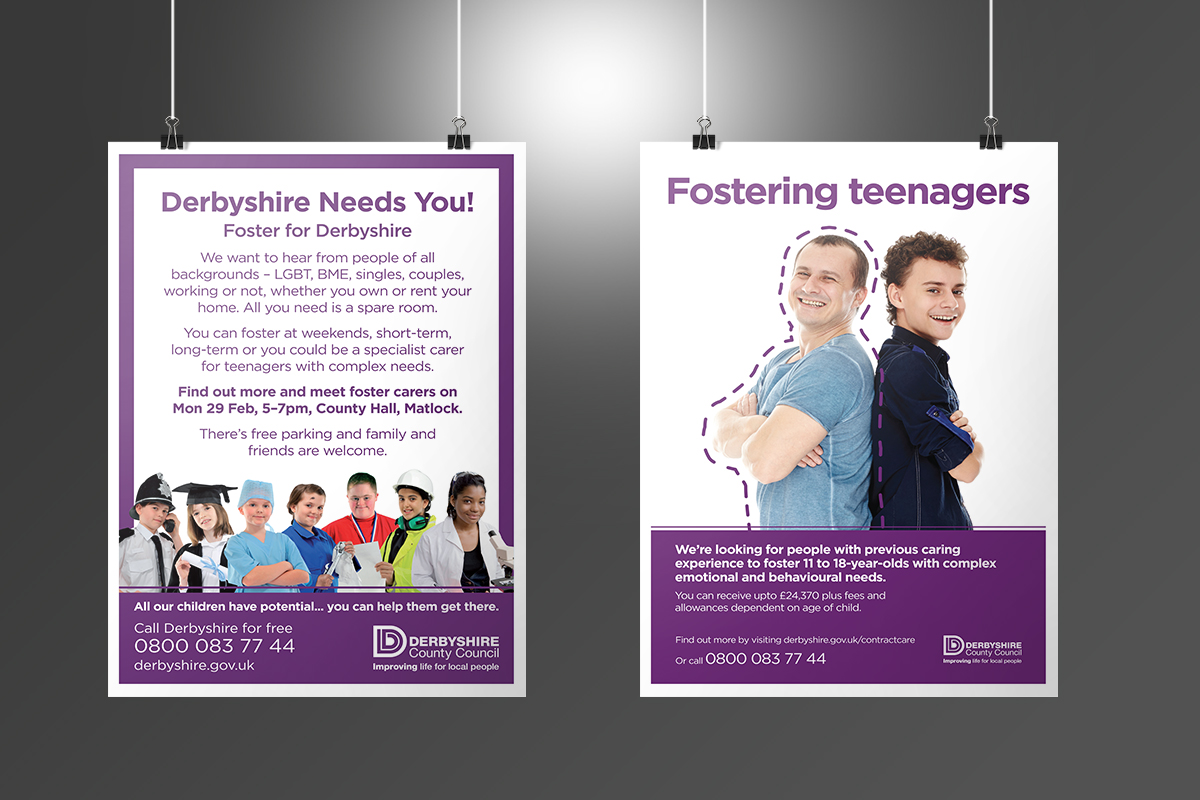 Derbyshire County Council DCC Fostering Posters v1