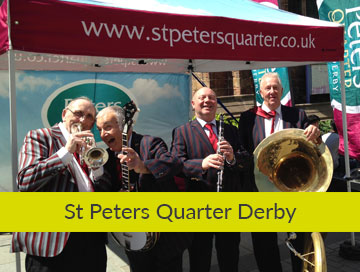 St Peters Quarter Derby graphic design based in derbyshire Our clients St