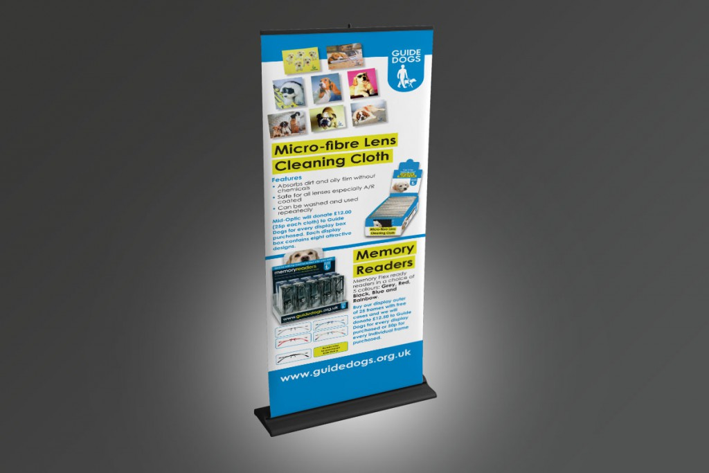 Guide Dogs roll-up banner