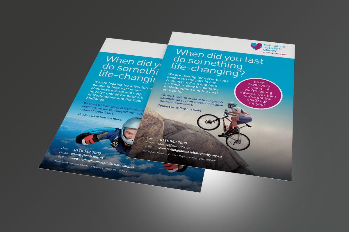 Poster design nottingham - Nottingham Hospitals Charity Nhc Challenge Posters V1