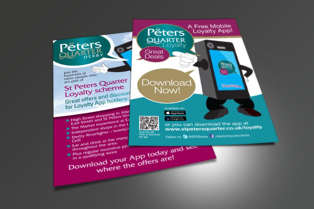 St Peters Quarter App Man leaflet SPQ Mobile App Flyer v1 NEW