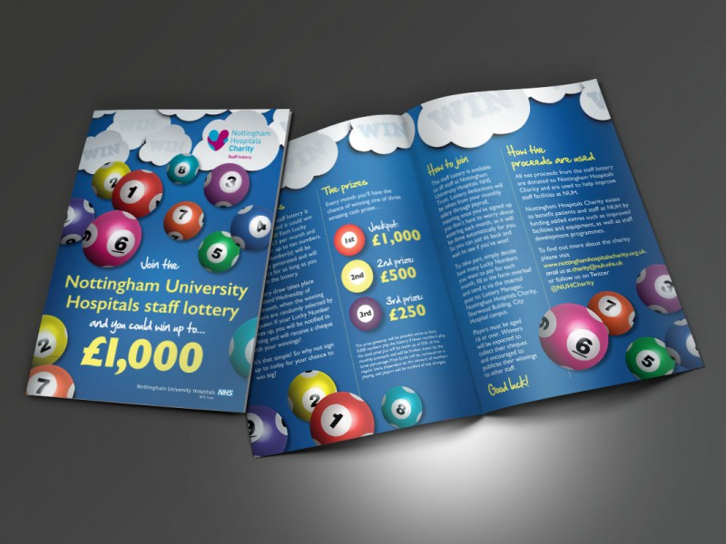 Nottingham Hospitals Charity Staff Lottery A5  Leaflets & Flyers Staff Lottery Leaflet v1 800x600