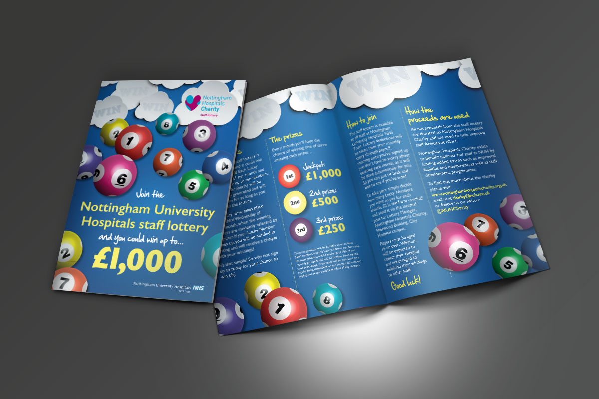 [object object] Nottingham Hospitals Charity Staff Lottery A5 Staff Lottery Leaflet v1
