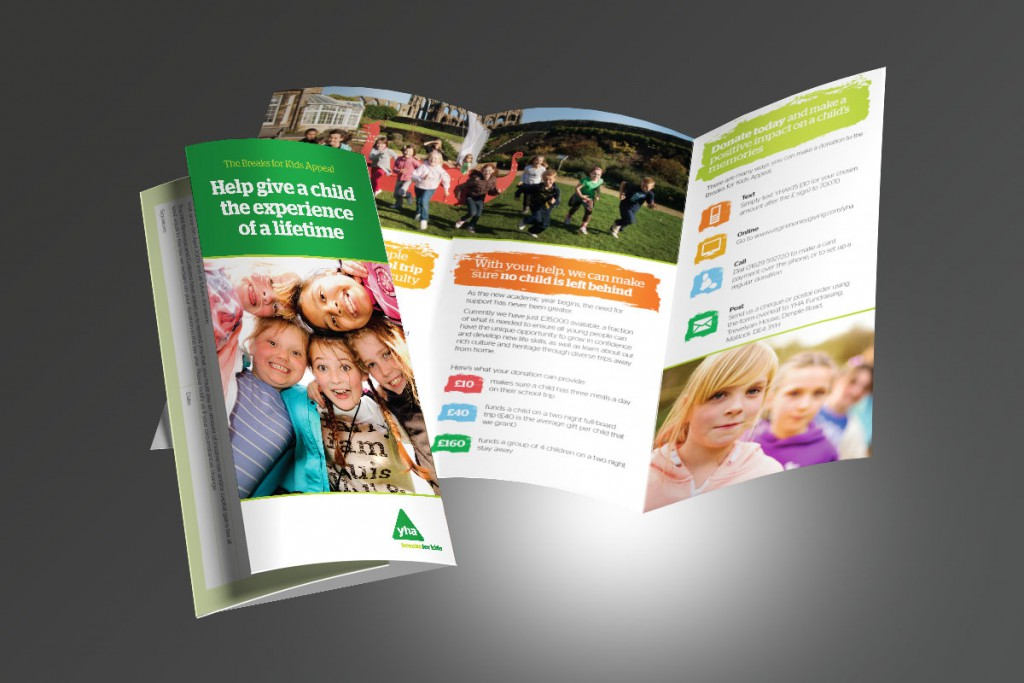 YHA Breaks for Kids DL leaflet