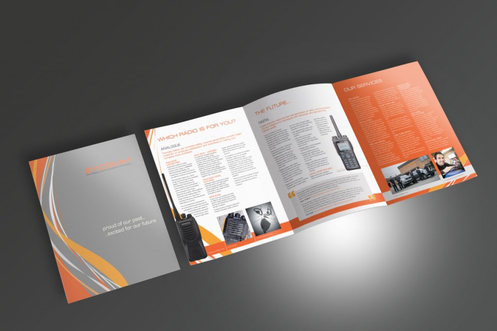 Zycomm Roll Fold Brochure