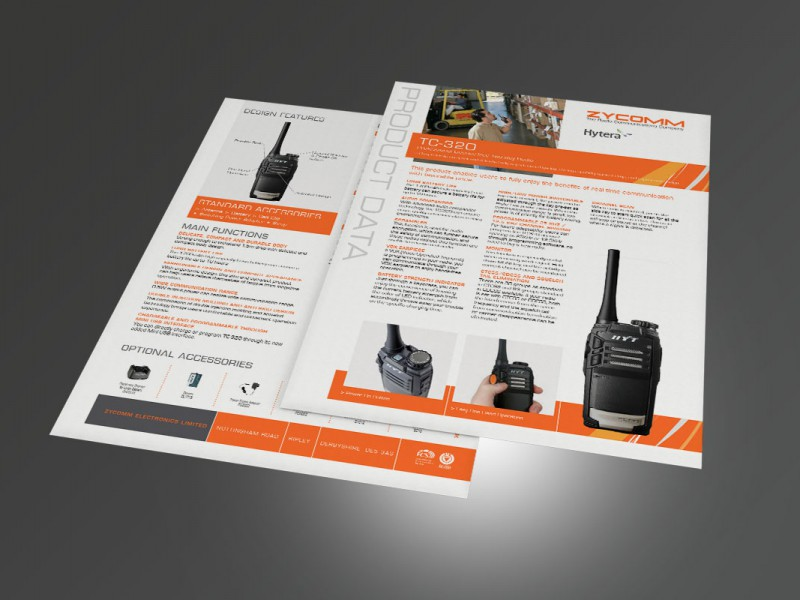 Zycomm Datasheets A4  Leaflets & Flyers Zycomm Datasheets v1 800x600