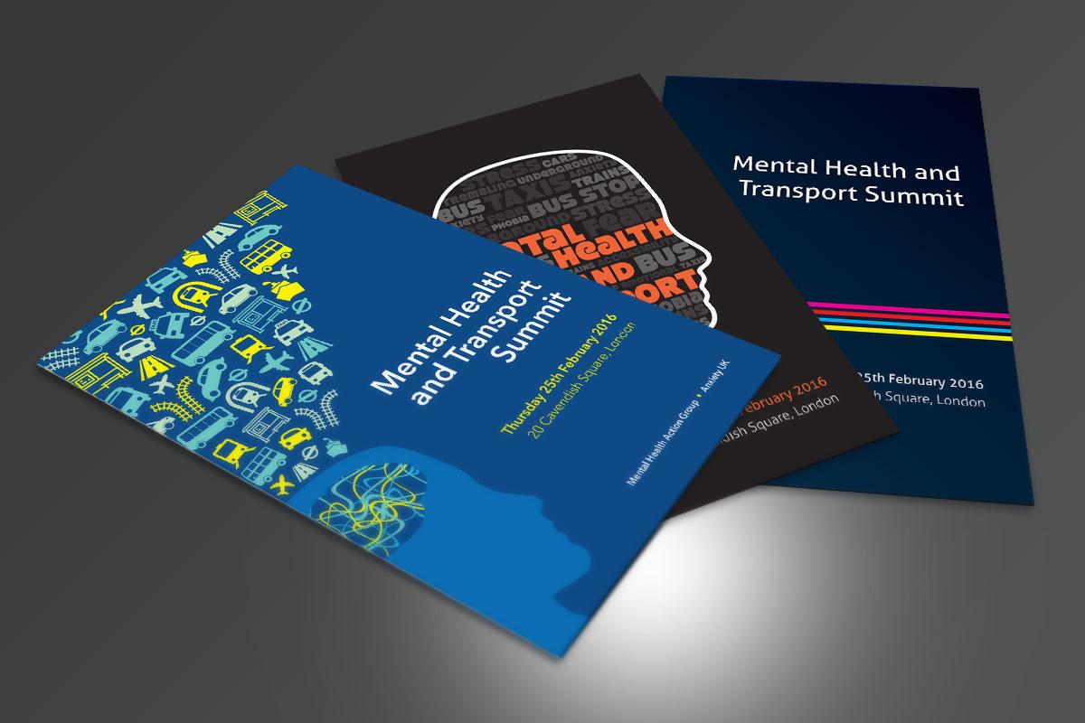 kc jones KC Jones conference&events Metal Health Conference Folder Designs