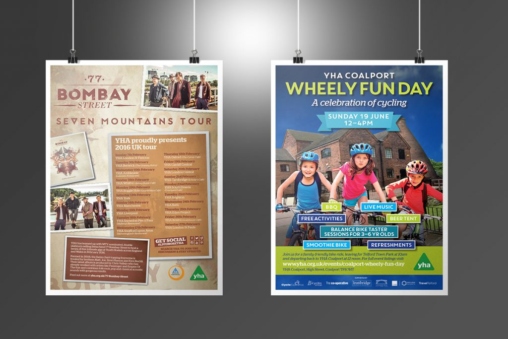 YHA Seven Mountains Tour and Wheely Fun Day Posters