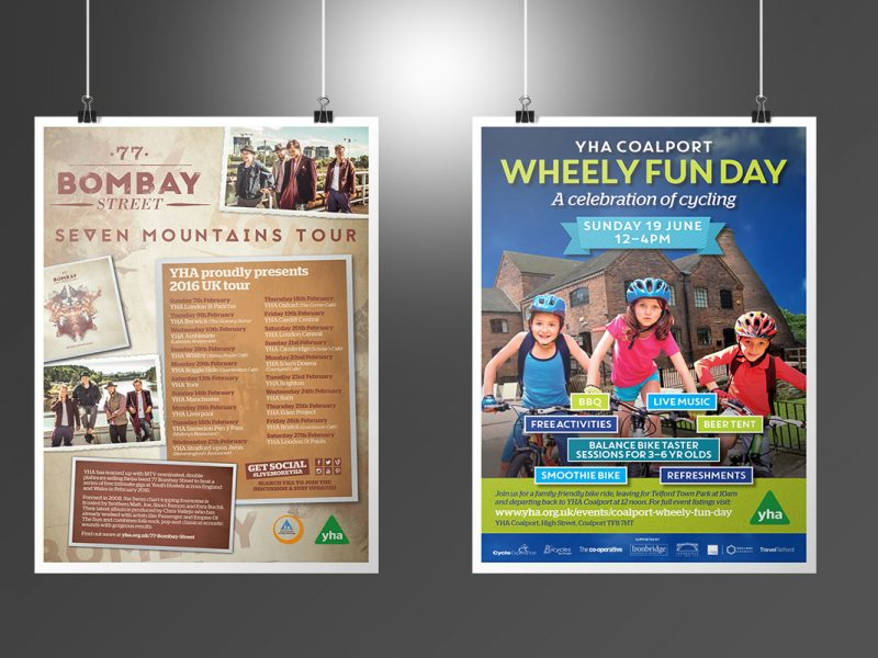 YHA Seven Mountains Tour and Wheely Fun Day Posters  Posters YHA Posters v1 800x600