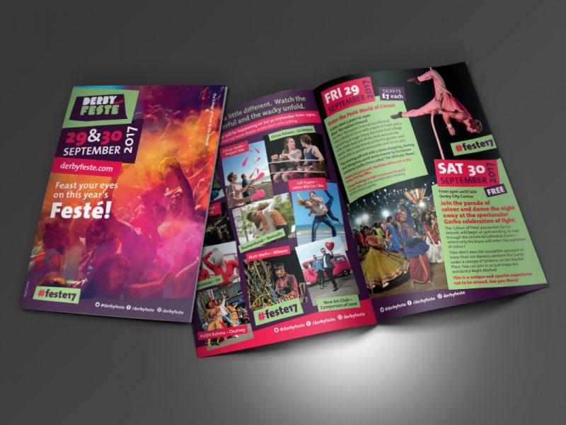 Derby Festé 2017 leaflet A5  Leaflets & Flyers Fest   A5 Leaflet v2 800x600