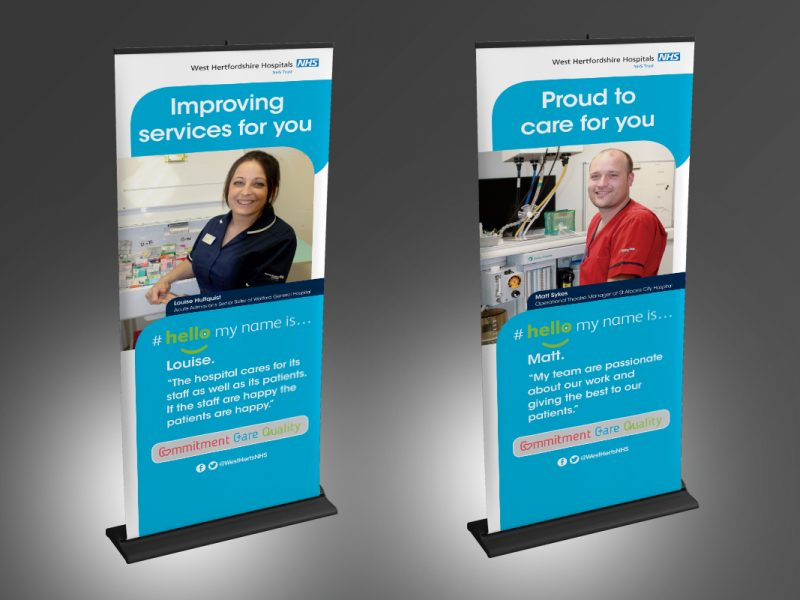 West Herfordshire Hello Banners  Exhibitions & Banners NHS Hello Banners v1 800x600