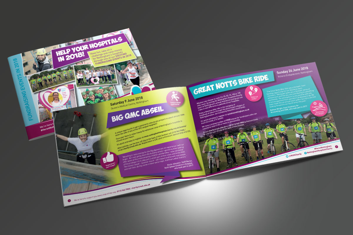 [object object] Nottingham Hospitals Charity NHC Events Booklet A5 v2