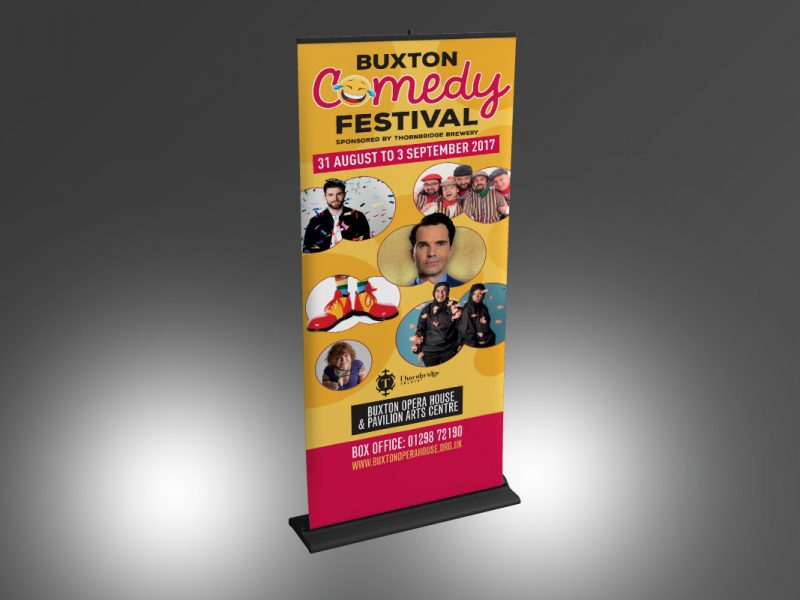 Buxton Comedy Festival Stand  Exhibitions & Banners BOH Comedy Festival Banner v1 800x600