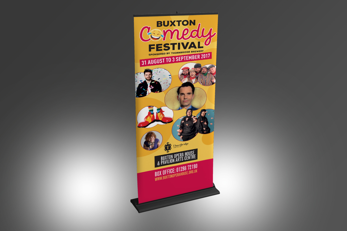 [object object] Buxton Comedy Festival Stand BOH Comedy Festival Banner v1