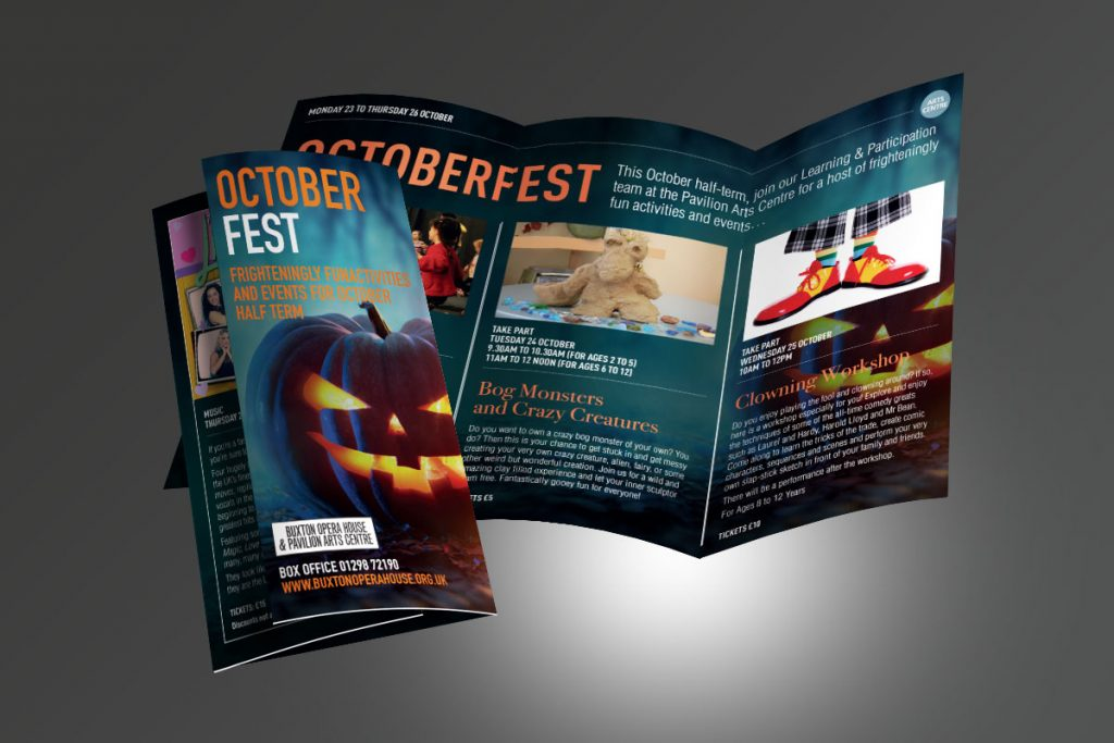 Buxton Opera House October Fest Leaflet DL