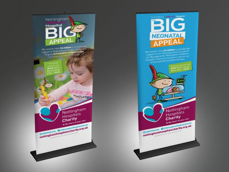 Nottingham Hospitals Charity – Neonatal and Big Appeal Stands  Exhibitions & Banners NHC Banners v1 800x600