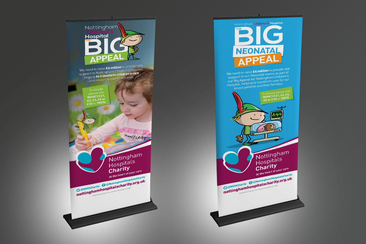 nottingham Nottingham Hospitals Charity – Neonatal and Big Appeal Stands NHC Banners v1