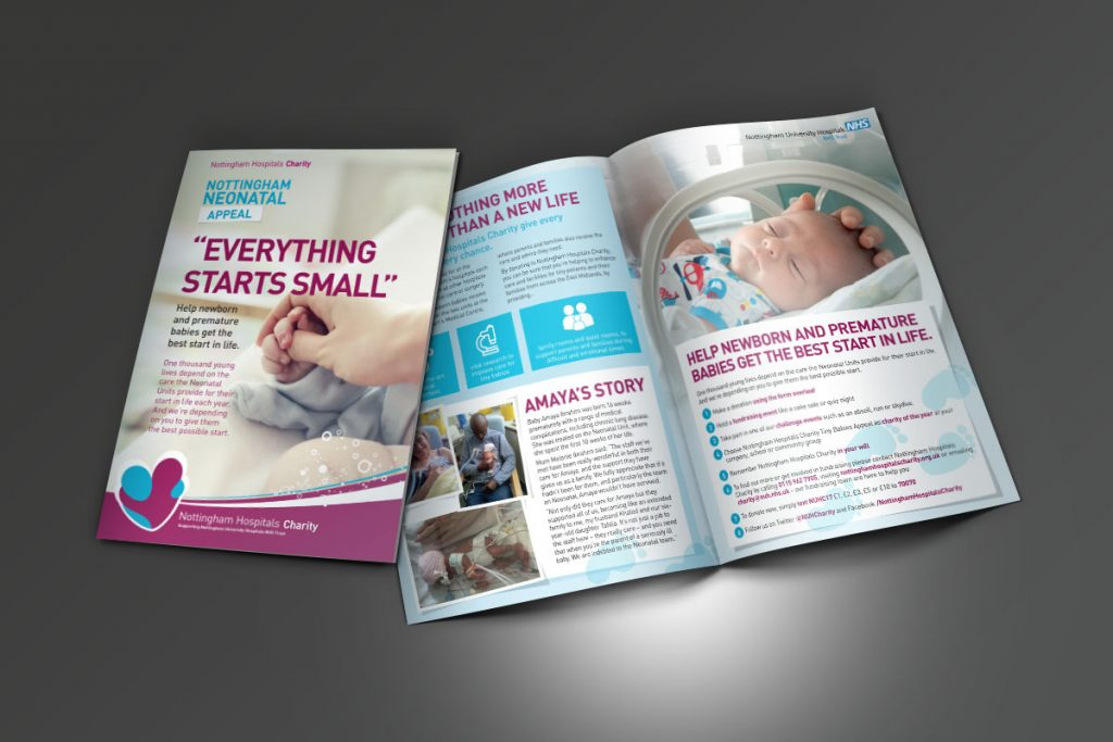 Nottingham Hospitals Charity Appeal Leaflets