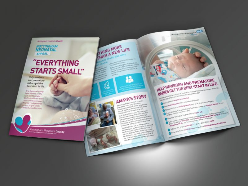 Nottingham Hospitals Charity Appeal Leaflets  Leaflets & Flyers NHC Neonatal Leaflet A5 800x600