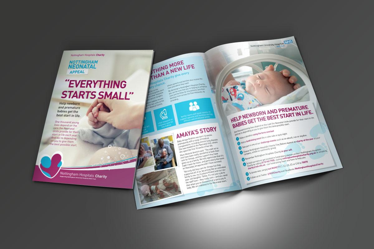 nottingham Nottingham Hospitals Charity Appeal Leaflets NHC Neonatal Leaflet A5