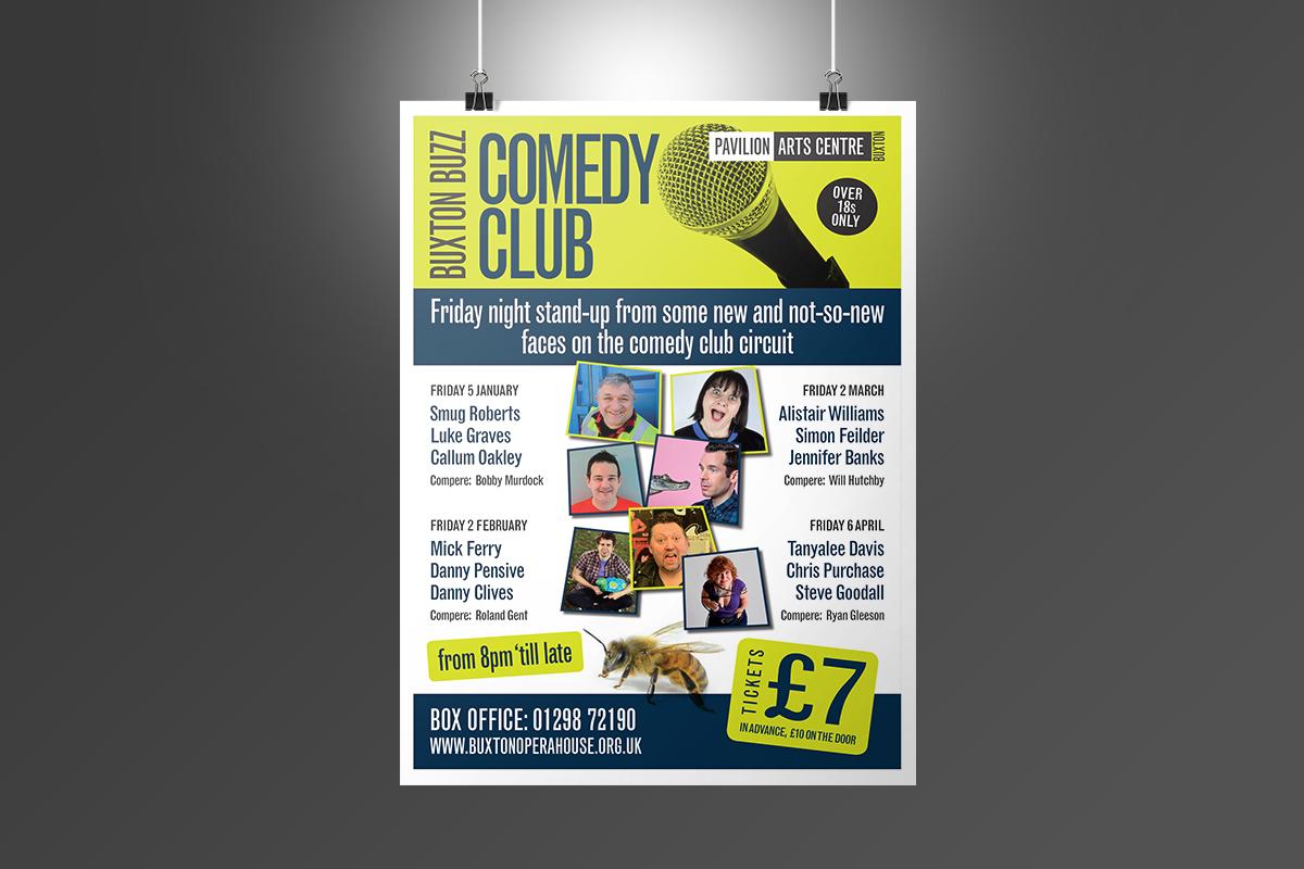 buxton opera house comedy club poster Buxton Opera House Comedy Club poster BOH Buzz Posters v1