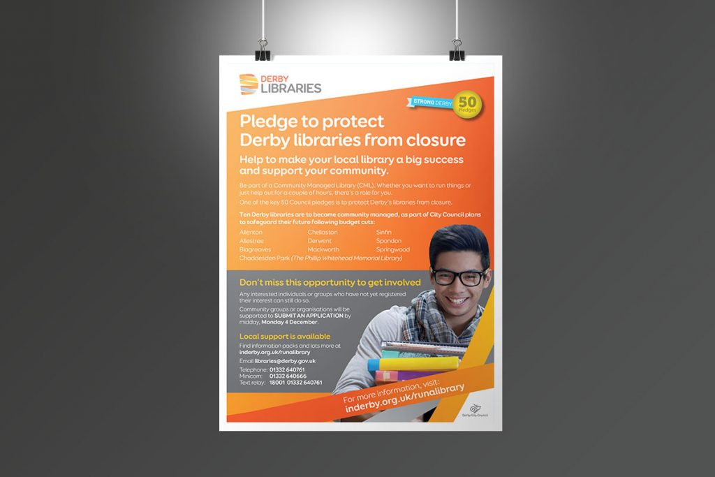 Derby Libraries poster