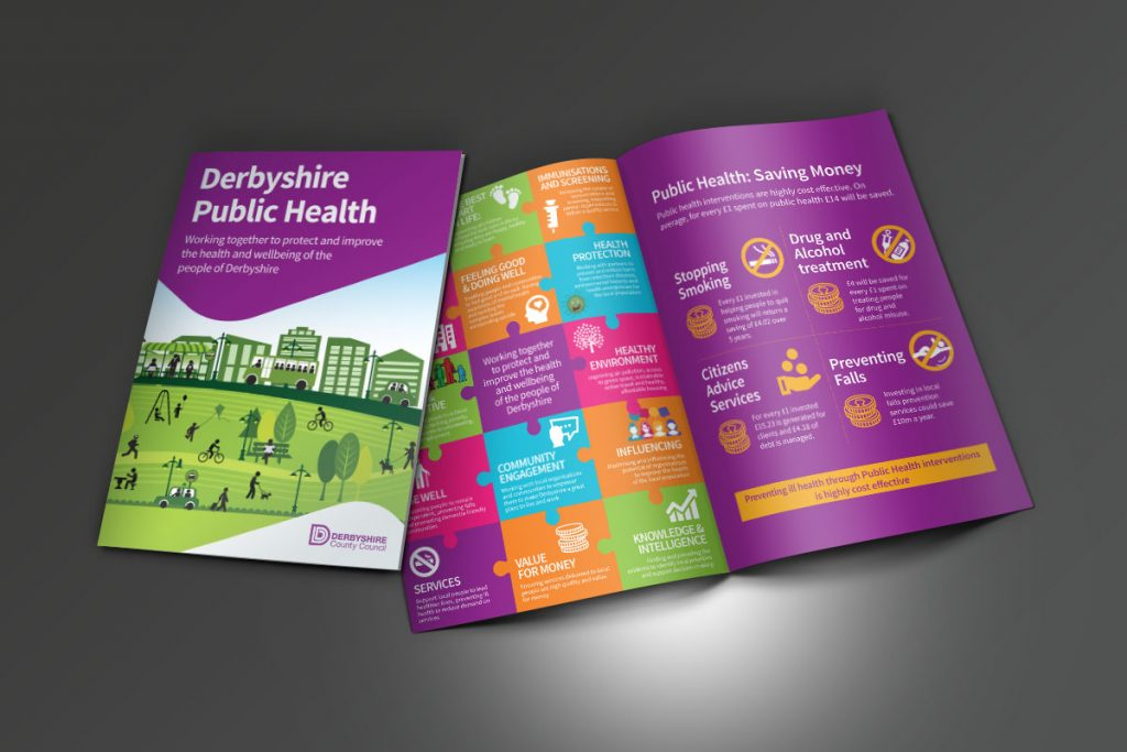 Derbyshire County Council Public Health Brochure