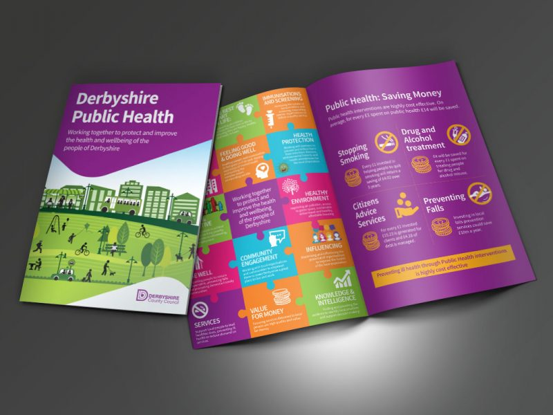 Derbyshire County Council Public Health Brochure  Brochures DCC Public Health Brochure 800x600