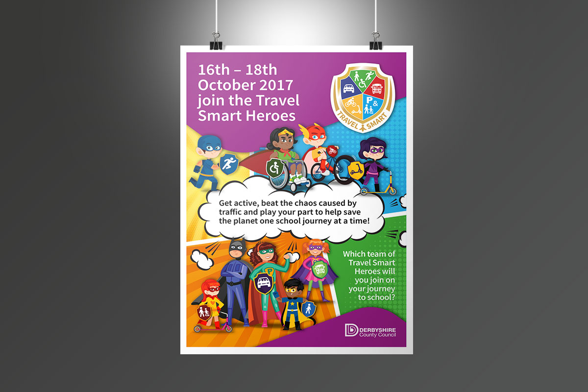 dcc travel smart heroes poster DCC Travel Smart Heroes poster DCC Travel Smart Posters v1