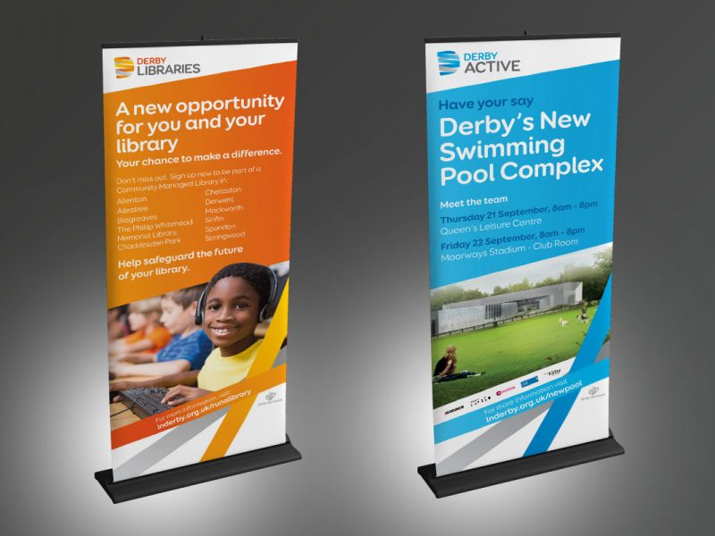 Derby City Council banners  Exhibitions & Banners Derbyshire City Council Banners 800x600
