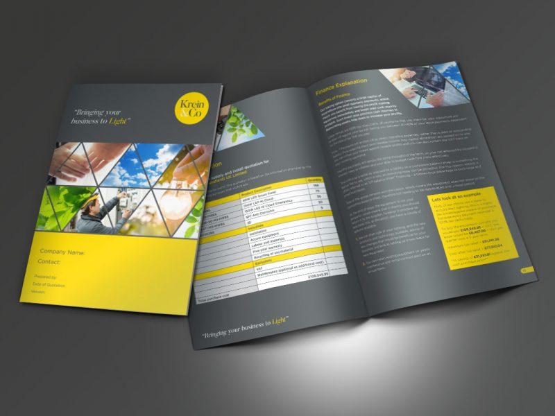 Square One Creative: Krein & Co Proposal  Brochures Krein Co Proposal 800x600