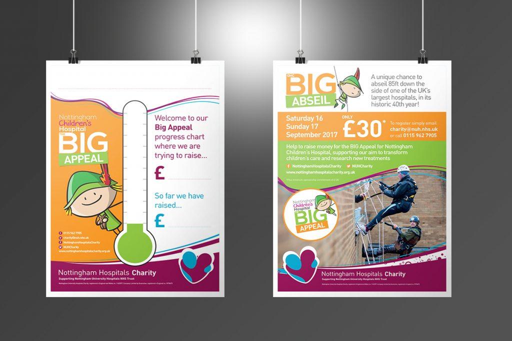 Nottingham Hospitals Charity Big Appeal posters