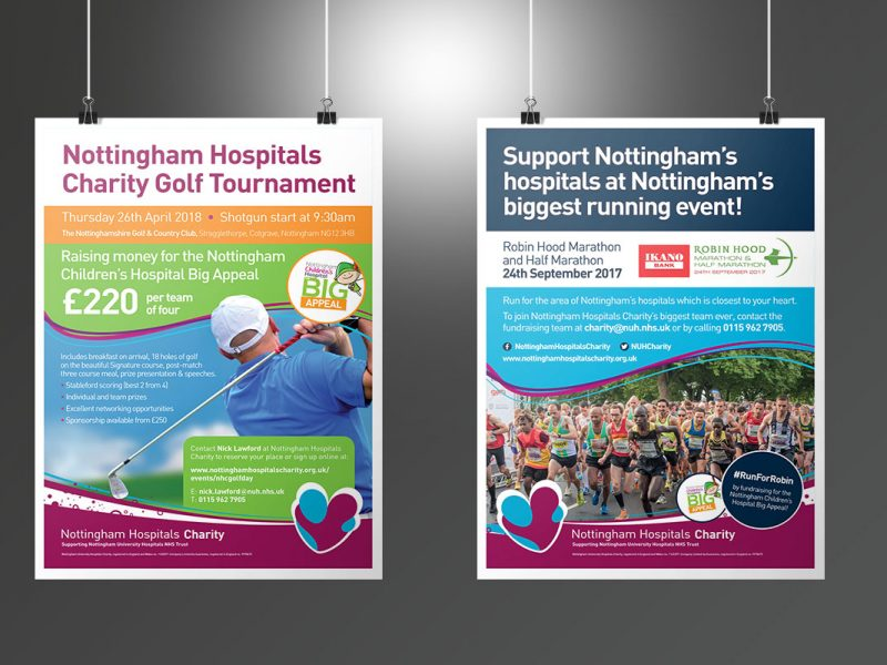 Nottingham Hospitals Charity Events posters  Posters NHC Events Posters v1 800x600