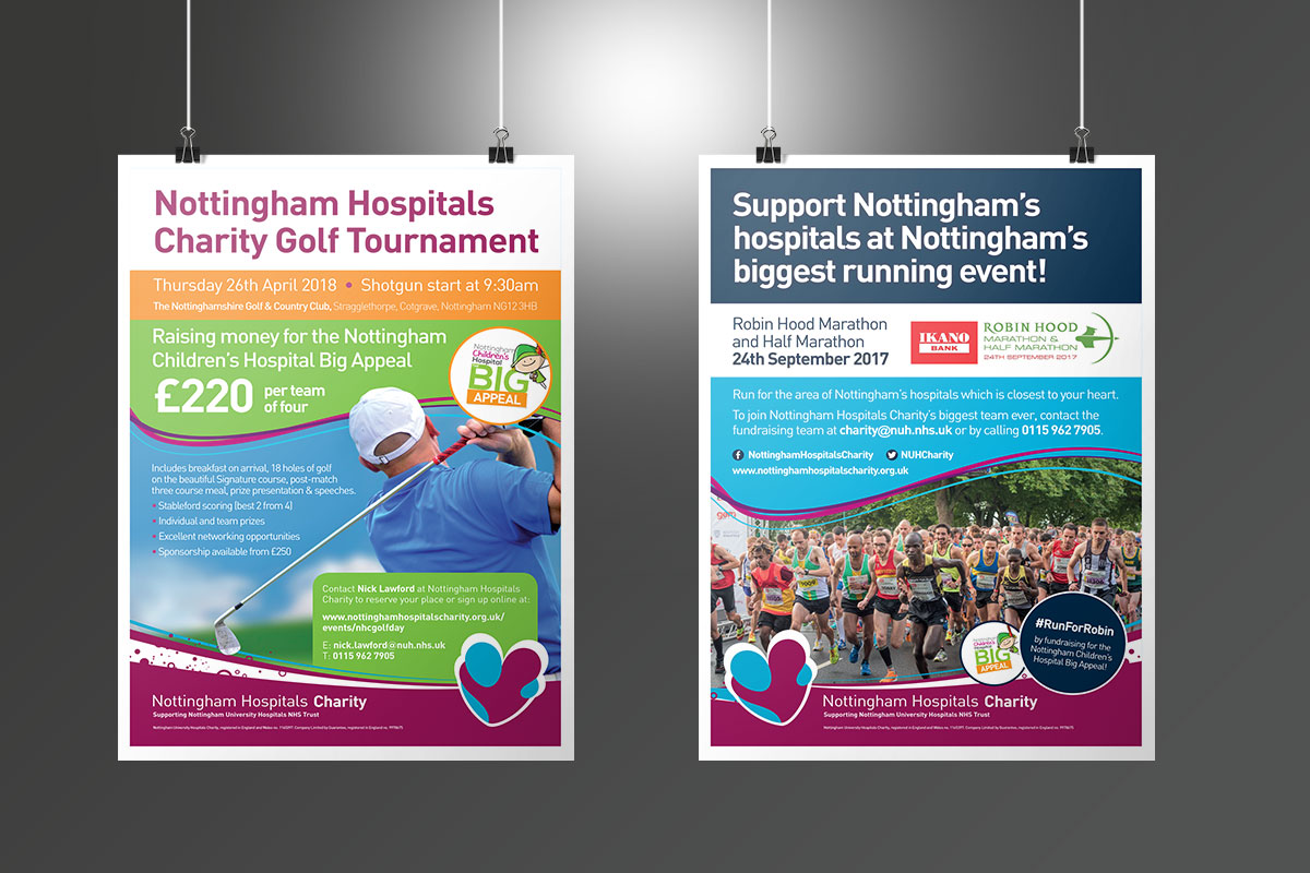 nottingham Nottingham Hospitals Charity Events posters NHC Events Posters v1