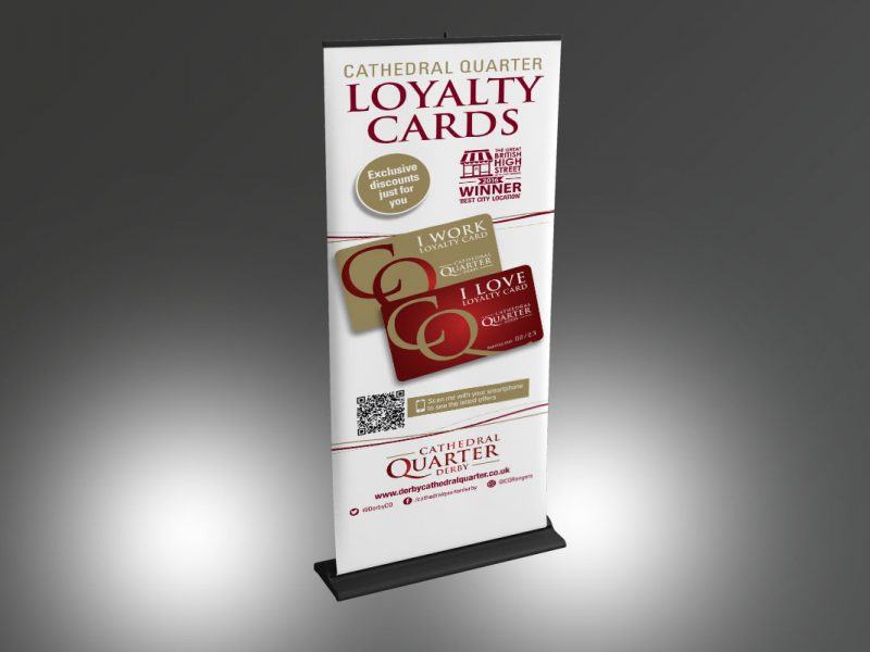 Cathedral Quarter Loyalty Card banner  Exhibitions & Banners CQ Loyalty Card Banner v1 800x600